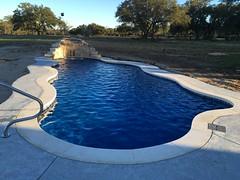 Caribbean with custom waterfall: Georgetown, TX (AquaPools.com) Tags: pool sanantonio swimming austin dallas waco houston pools fiberglass fiberglasspool fiberglasspools aquapools aquapoolscom