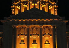 San Francisco City Hall (evie22) Tags: sanfrancisco party sports night canon fun football cityhall nfl celebration americanfootball 2016 sb50 canon7dmarkii superbowl50