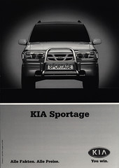 KIA Sportage - Alle Fakten. Alle Preise. 2000 (World Travel Library) Tags: world auto travel cars car by ads drive photo model automobile 2000 ride image photos library go wheels transport models picture automotive center literature korean photograph papers vehicle motor makes kia collectible collectors sales brochures catalogue  documents alle fahrzeug frontcover facts preise motoring wagen automobil  sportage daten prospekt dokument katalog fakten worldcars worldtravellib