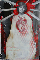 in red journal (urtica.) Tags: red art collage mixed handmade mixedmedia journal alteredbook artjournal