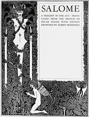 "Title Page: ""Salome"" by Oscar Wilde. NY: Three Sirens Press, (c. 1930). Art by Aubrey Beardsley (lhboudreau) Tags: art illustration angel book artwork play drawing oscarwilde wilde illustrations drawings books story artnouveau tragedy salome grotesque penandink bookart blackink beardsley nineteenthcentury hardcover titlepage aubreybeardsley oneact stageplay hardcovers britishartist englishartist englishillustrator threesirenspress"