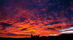 Fiery sunset over the Tay (EricHarden) Tags: sunset red sky sun set clouds river scotland nikon dundee tay fiery d300
