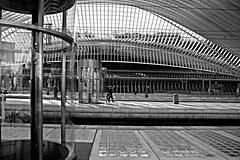 Op Een Rijtje /On A Row (jo.misere) Tags: bw lines station calatrava round liege 77 bows luik bogen zw lijnen rond sonyalpha tamron1750m