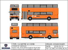 GM Buses Scania N113DRB 9.6m (Hongkonger's Collection) Tags: preserved stagecoach scania greatermanchester gmbuses northerncounties ncme n113drb busdrawing h466gvm northerncountiesmotorengineering
