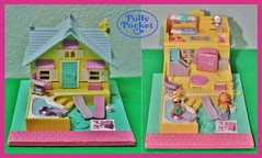 Polly Pocket HOUSE (Big-Eyed) Tags: vacation people house pool swimming vintage toys miniature holidays doll dolls box small casket mini collection shape nineties playset pollypocket playsets cofanetto