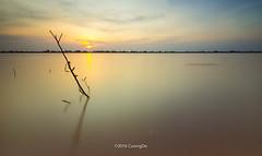 alone (cuongchido) Tags: longexposure sky sun tree beautiful clouds sunrise reflections river countryside sundown reflect tokina1116mm httpswwwfacebookcomdochicuong76