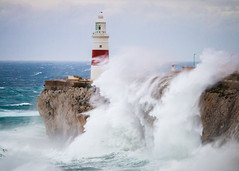 Gibraltar Lighthouse (shanebusto) Tags: winter light sea cloud costa naturaleza lighthouse seascape storm nature water beautiful beauty rain clouds landscape bay coast colours wind cloudy wave tormenta gibraltar olas temporal nationalgeographic lightroom waterscape gibraltarbay projectweather coastofgibraltar seaofgibraltar