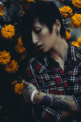 Jerry in flowers (IAN BOIL) Tags: travel flowers summer people flower art tourism nature girl beautiful beauty fashion yellow tattoo project dark lens 50mm iso100 photo spring twilight model nikon colorful photographer sweet russia top f14 surrealism 14 surreal style vogue siberia kit nikkor photoshot ethnic 3200 swag photosession ethnical covergirl androgynous photoproject androgyne nikond3200    altay  tattoogirl  d3200