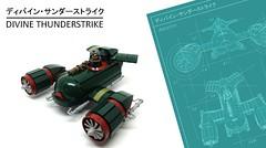 Divine Thunderstrike (2 Much Caffeine) Tags: fighter lego blueprint steampunk moc