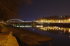 Angers (Maine-et-Loire) (sybarite48) Tags: bridge france rio night ro river noche nacht fiume rivire ponte most pont noite brug brcke fluss nuit notte noc kpr angers gece maineetloire  rivier  nehir     rzeka        puante