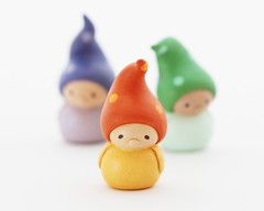Wee Companion Gnomes (humbleBea) Tags: sculpture cute art miniature sweet waldorf adorable clay tiny collectible figurine childlike humblebea beaswees nataliekibbe companiongnome