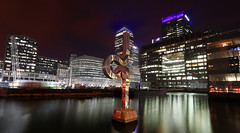 Canary wharf London (spencerrushton) Tags: uk longexposure colour building london night canon landscape lights exposure spencer canarywharf 1022mm londoncity manfrotto canarywarf londonnight londonuk canonefs1022mmf3545usm rushton canonlens manfrottotripod london16 spencerrushton 760d canon760d