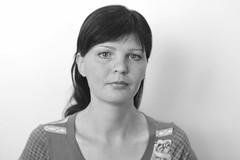 . (Out to Lunch) Tags: portrait blackandwhite woman monochrome canon eos europe refugee moldova 282470 5dmii