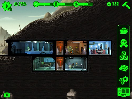 Fallout Shelter Heads-Up Display: screenshots, UI