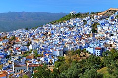 View of Chefchaouen in Marocco (alkhaleej-online) Tags: marocco chefchaouen bluehouses