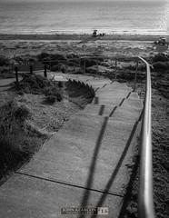 Go (jrazarcon) Tags: sunset blackandwhite bw beach stairs 35mm drive sand outdoor f14 au arts rail australia southaustralia dg hsm aldingabeach nikond810 johnazarcon jrazarcon