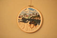 Mudcrab embroidery (thenotionsbox) Tags: art handmade embroidery crafts videogames gaming morrowind mudcrab elderscrolls