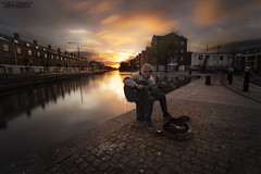 Il Chitarrista di Strada (OpOppaPol) Tags: street light sunset sky dublin streetart art beautiful clouds landscapes fantastic strada tramonto ngc cielo paesaggi dublino fantastico chitarrista canon6d
