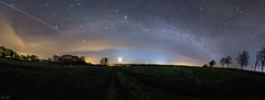 Milkyway over the Moon and ISS Crossing (m.cjo Fotografie - Martin Rakelmann) Tags: panorama stars rgen iss sterne milkyway mcjo milchstrase neuensien