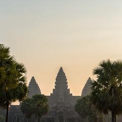 Three Towers (Marshall Ward) Tags: sun architecture sunrise landscape temple cambodia angkorwat temples siemreap 2016 nikond800 afszoomnikkor2470mmf28ged marshallward