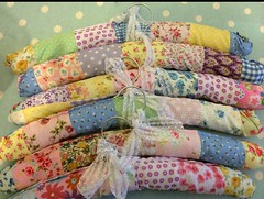 Patchwork covered hangers (patchwork and lace) Tags: patchworkandlace handmade patchwork cathkidston shabbychic