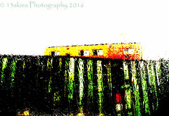 Peek a boo (HSS) (13skies) Tags: building colors look fence cool colours post processing slider peek hss slidersunday