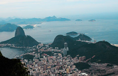 View from Christ the Redeemer Monument (Paula Zuluaga) Tags: ocean brazil sky rio brasil riodejaneiro de janeiro cristoredentor christtheredeemer atlanticocean pandeazucar paodeaucar