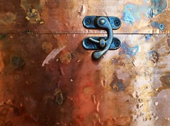 (Thru Mikes Viewfinder) Tags: box copper brass latch