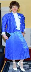 Birgit021814 (Birgit Bach) Tags: shiny skirt blouse suit satin pleated ruffled kostm glnzend faltenrock rschenbluse