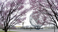 Worlds Fair Corona Park (GlenCoverNY - Waiting for colors to start popping!) Tags: park trees ny cherry blossoms fair corona sphere worlds