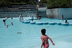 :: pool :: (Art-slice) Tags: people kids vintage streetphotography swimmingpool fujifilm kualalumpur klcc humaninterest x100t