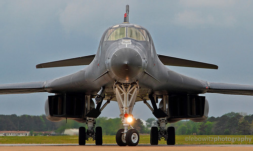B-1B arrival for the airshow