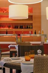 RSH Djerba (Primatours) Tags: detail restaurant hotel design djerba kerze resort tisch interiordesign glas tunesien windlicht salzstreuer pfefferstreuer radissonsas gedecktertisch 4sterne gedeck korbstuhl pendelleuchte rezidor