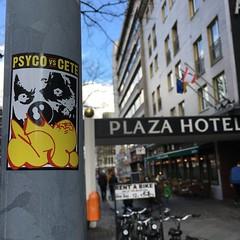 Berlin with CETE (PSYCO ZRCS 10/12) Tags: street berlin art digital graffiti sticker stickerart stickers vinyl worldwide collab slap tagging psyco collaboration bombing slaps cete stickerculture stickerporn stickerlife