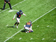 good as gold (timp37) Tags: chicago field soldier football illinois bears nfl 9 september packers greenbay vs robbie gould kicker 2015
