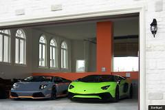 Decisions. (ZainSyedPhoto) Tags: toronto verde green grey garage ithaca lamborghini sv brampton roadster murcielago aventador lp650