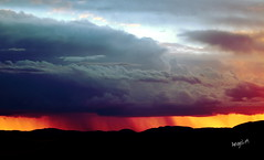 Bokpoort Storm (Angel-19) Tags: sunset sky cloud storm rain landscape southafrica lluvia paisaje tormenta sudafrica