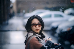 Girl in the snow (Arutemu) Tags: portrait woman snow girl face lady asian outside outdoors dof sony 85mm   manualfocus helios  f15   femaleportrait helios402     ilce    mirrorless  helios85mm     sonya7r ilcea7r
