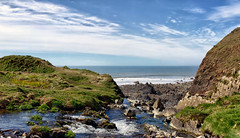 Welcombe Mouth Waterfall Pano (Boba Fett3) Tags: sea seascape water landscape seaside rocks panoramic devon waterfalls photostitch northdevon welcombe canon70200mmf28
