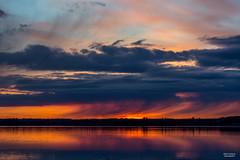 Heavy rain (JaniOjalaFINLAND) Tags: ocean sunset nature rain clouds sunrise suomi finland landscape sade heavy jani ojala walke wwwjaniojalacom