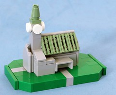 Microscale Church (Brizzasbricks) Tags: church lego verdigris clocktower spire shield churchyard portico npu afol brickish newelementary nexo microsacle legoblog