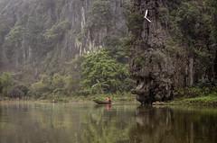 (galushchak) Tags: travel mountain mountains reflection nature reflections river march fishing cliffs vietnam ebisu 2016 ninhbinh tamcoc northvietnam  galushchak