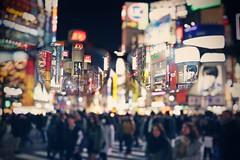 My Eyes on Shibuya Crossing ([~Bryan~]) Tags: street city people urban japan night tokyo glasses focus crossing bokeh shibuya shibuyacrossing zebracross throughmyeyes myvision