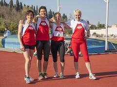 La 4x400 master: Francesca Raschioni, Alberta Zamboni, Anna Moretti, Cristiana Cervigni