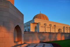 Sultan Qaboos Grand Mosque, (Neal J.Wilson) Tags: buildings shadows islam mosque sultan oman qaboos muscat goldenhour islamicarchitecture grandmosque