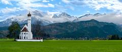 St. Coloman - Allgu (nilswer) Tags: sky panorama mountains alps church germany landscape bayern deutschland bavaria kirche himmel berge alpen neuschwanstein landschaft allgu schwangau