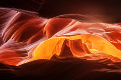 Image from Antelope Canyon that looks like Monument Valley (danielacon15) Tags: travel red arizona usa nature colors rock interesting nikon sandstone natural shapes page flowing navajoland antelopecanyon americansouthwest