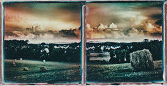 Storm on the Horizon (ltpaperhouse) Tags: color film polaroid diptych analogue expired instantphotography theimpossibleproject 600color instantlab ltpaperhouse
