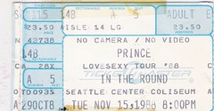 My 2nd Prince and last Prince concert (912greens) Tags: seattle music tickets prince coliseum concerts 1980s seattlecenter lovesexy