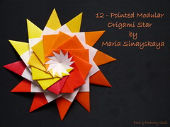 12 -  Pointed Modular Origami Star by Maria Sinayskaya (esli24) Tags: modularorigami origamistar papierfalten mariasinayskaya origamistern esli24 12pointedmodularorigamistar milsez